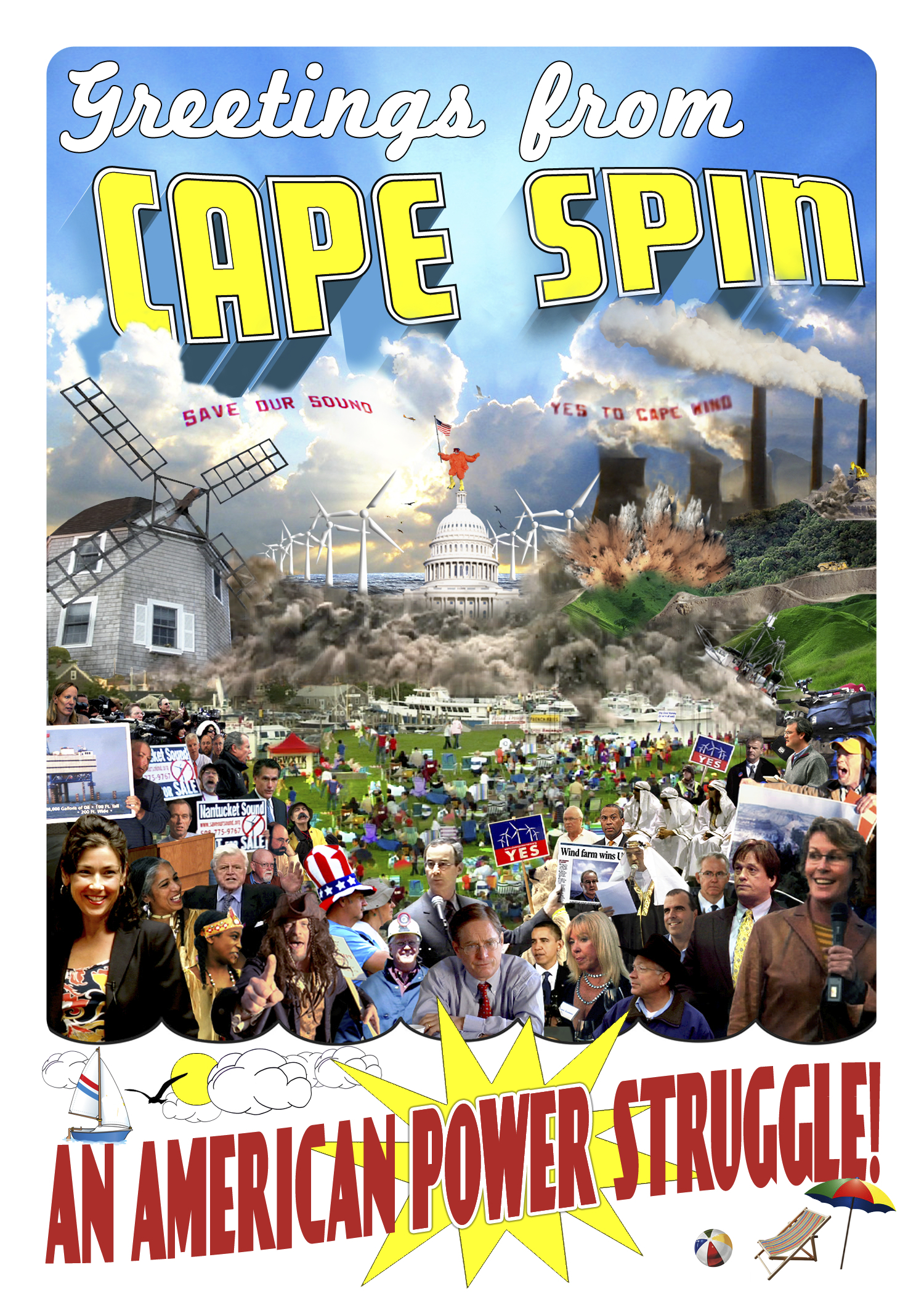 Greetings from Cape Spin! Postcard Front